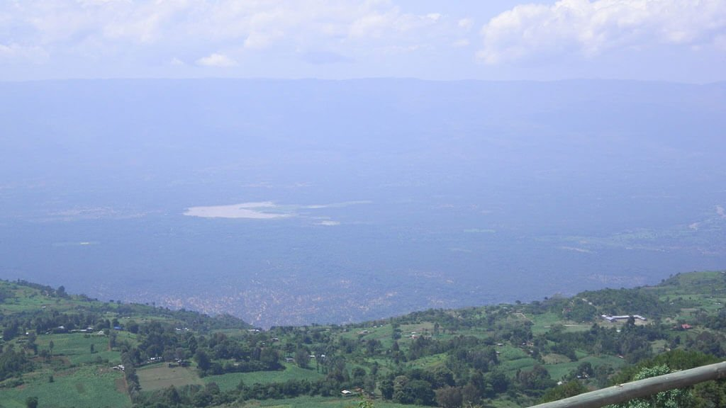 View of Lake Kamnarok from the Kerio Valley View Point