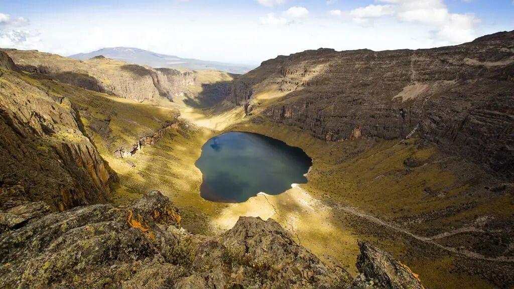 Lake Michaelson on Mount Kenya - Lakes and Tarns on Mount Kenya